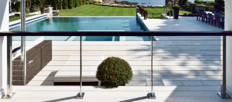 stainless steel cable railing.