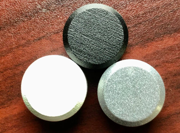 Hex Lag Nut Caps black, white and silver
