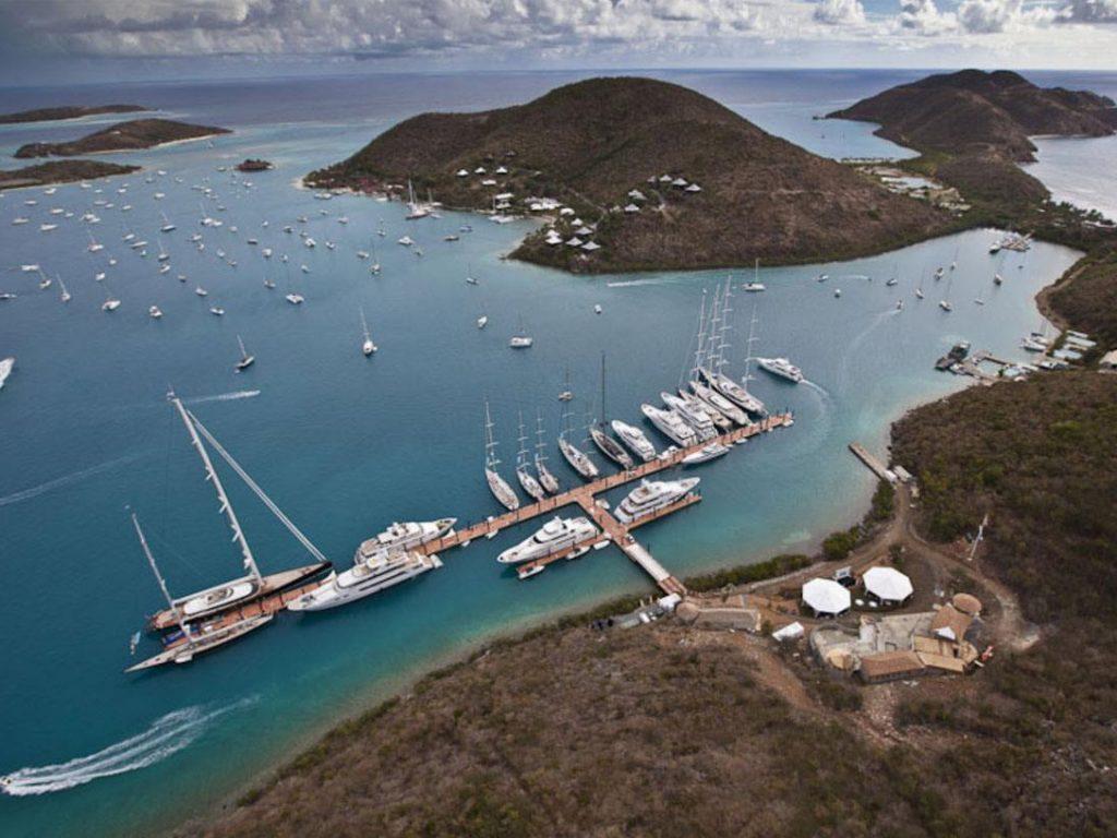 Aerial view of YCCS Marina.
