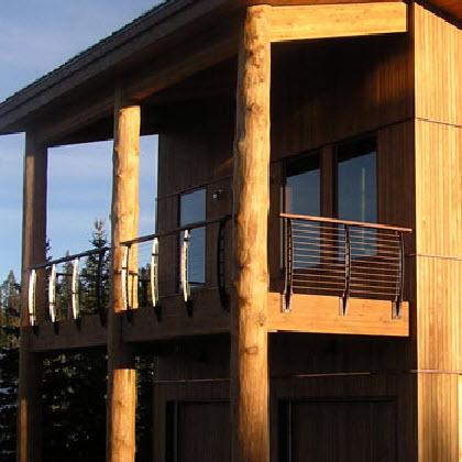 Log Timber Deck – Big Sky, Montana