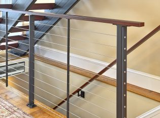 Black powder coated Ithaca style steel staircase