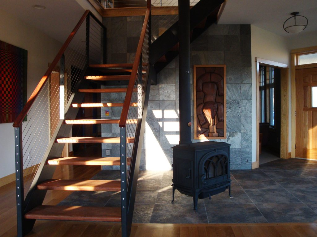 Black steel stair and railing