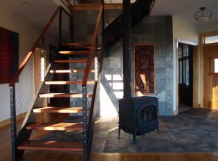 Black steel stair and railing