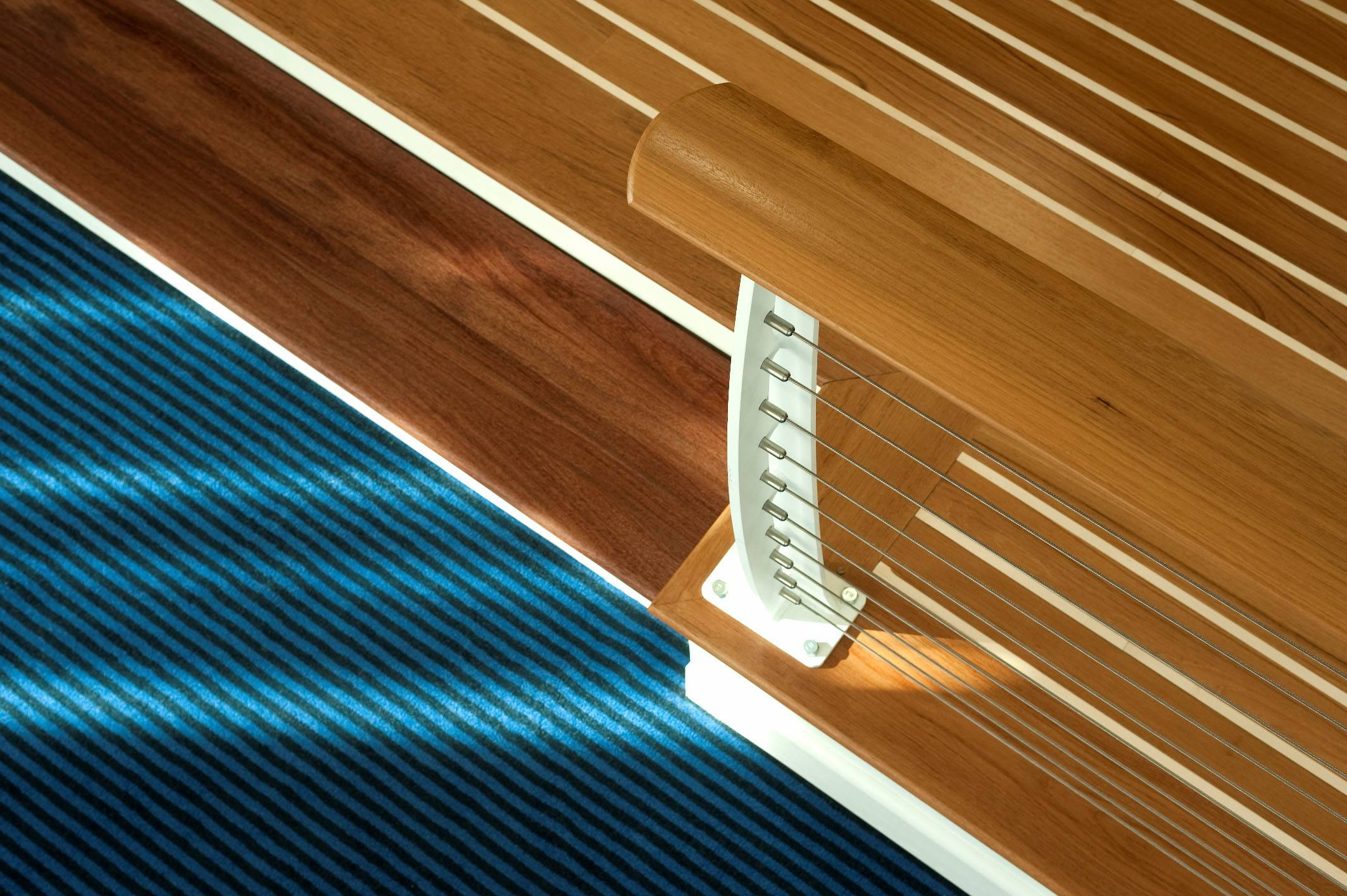 bowed nautical cable railing