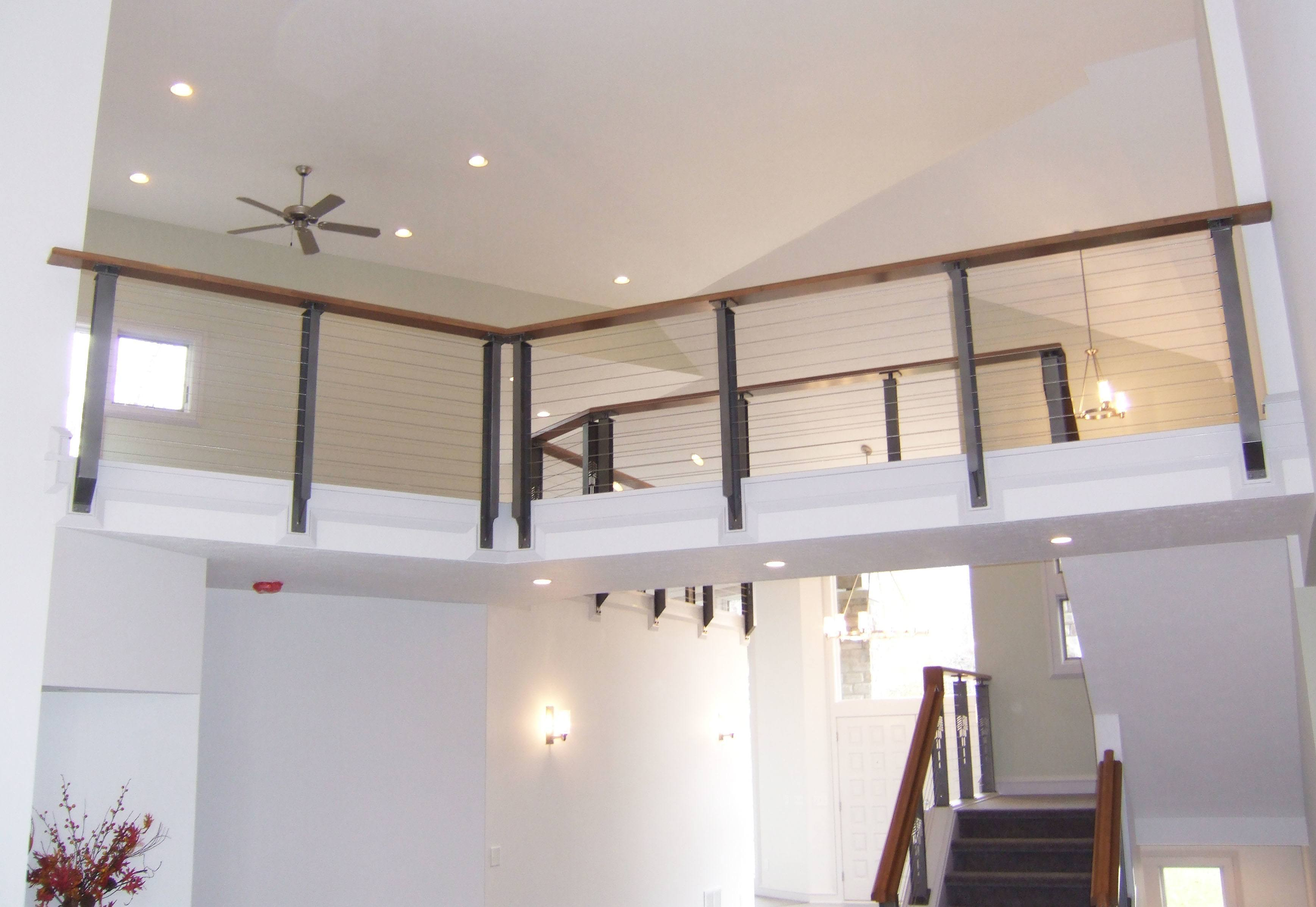 Bridge over interior living room
