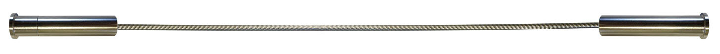 Level fittings shown on both cable ends