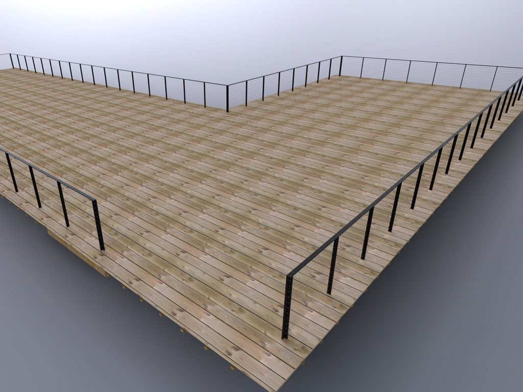 Cable Railing Rendering