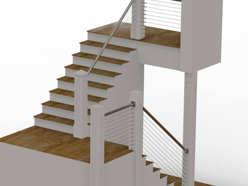 Rendering of cable railing