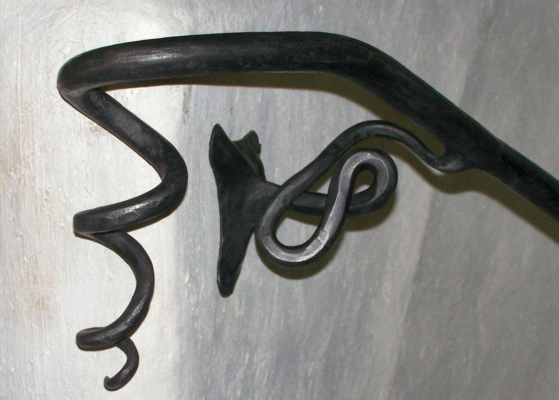 Close Up Of Spiral Forged Railing