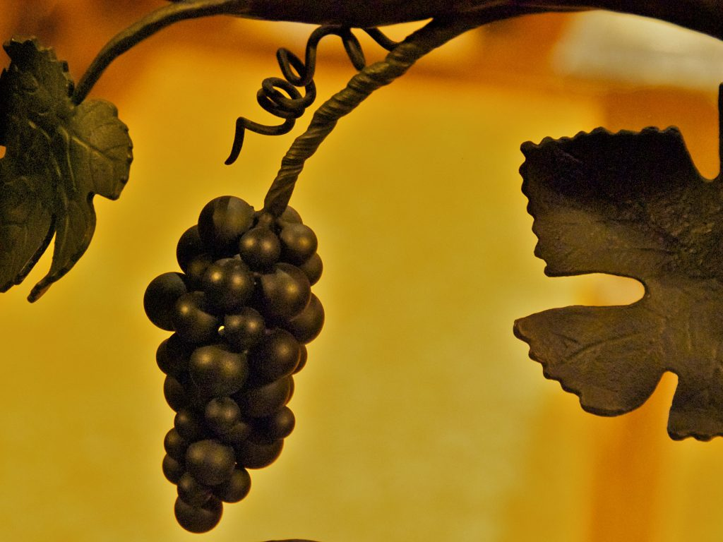 Hand forged steel grapes