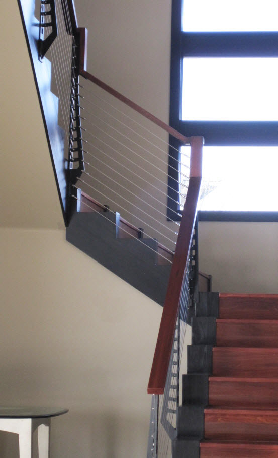 Close up of Railingon Stair