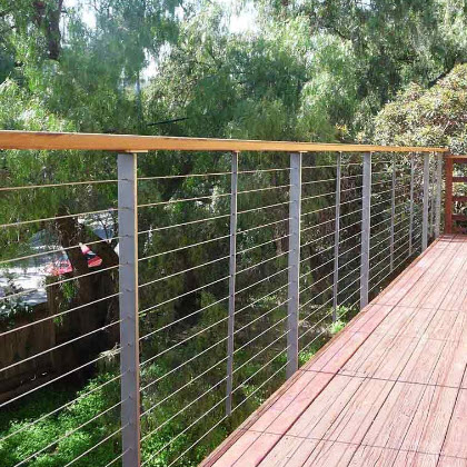 Thin deck railing posts on a deck in Cupertino CA