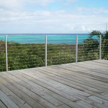 Custom Cable Railing – Turks and Caicos