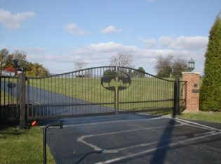 Driveway gate custom fabricated
