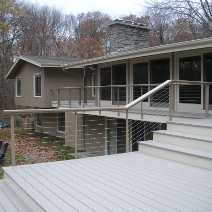 Cable Railing & Custom Stairs Project Gallery - Keuka Studios