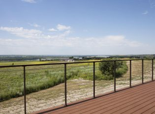 Expansive view from this deck in North Dakota