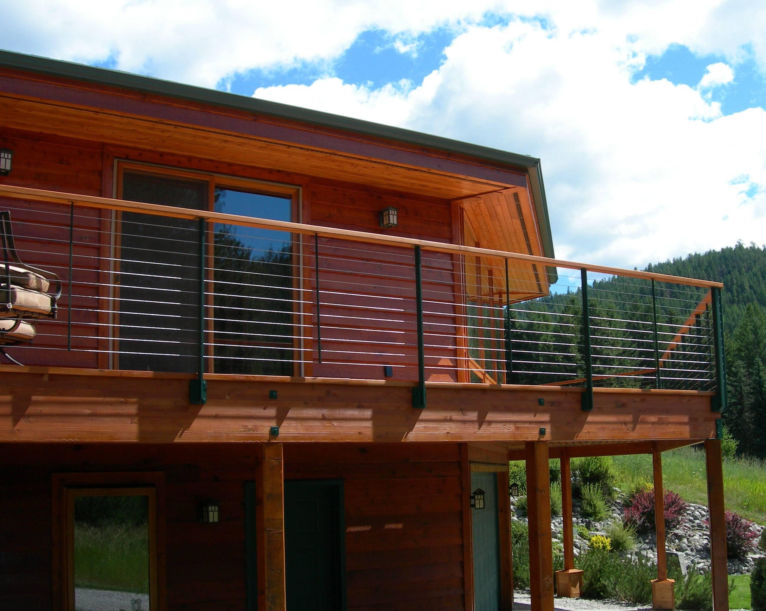 Fascia mounted railing posts