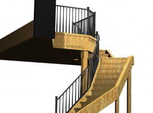 Rendering of railing before fabrication