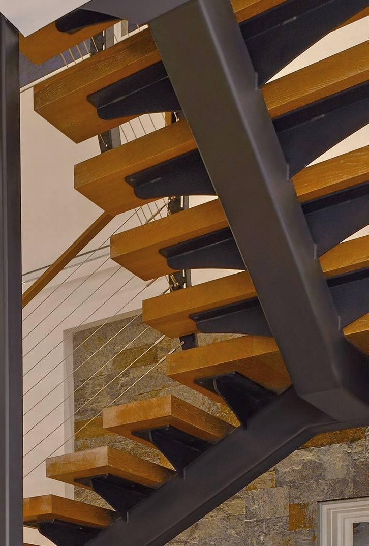 Floating stringer staircase details