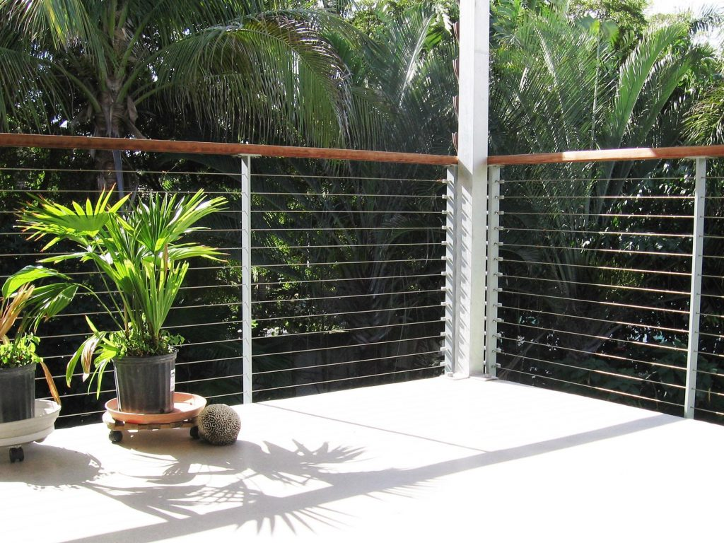 Florida modern railing design