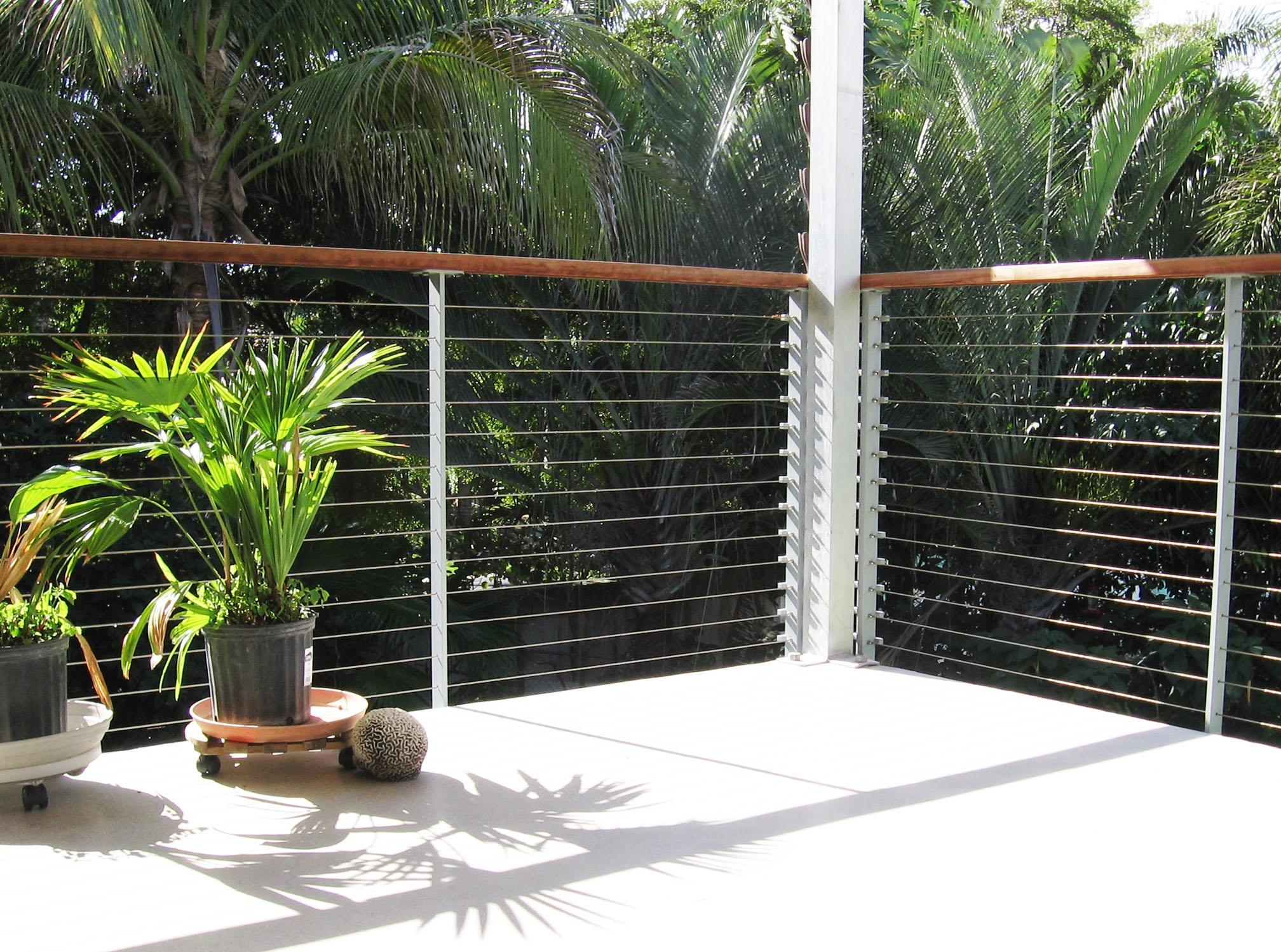 Florida modern railing systems.