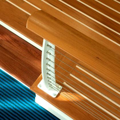 Sailboat style railing in Hampton Virginia.