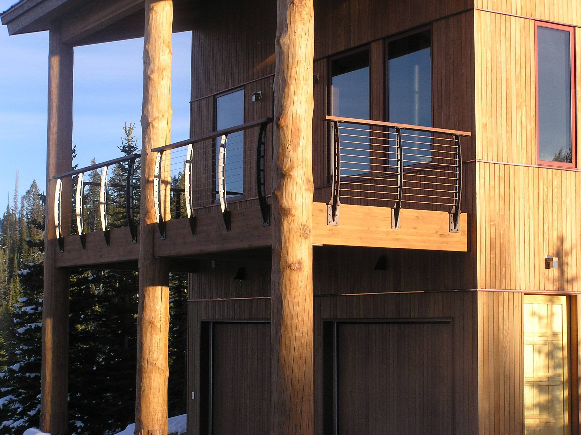 Heavy timber deck posts