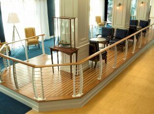 hotel lobby cable railing