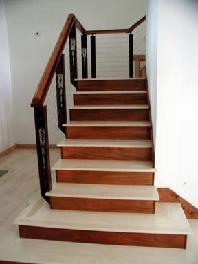 Indoor cable railing system