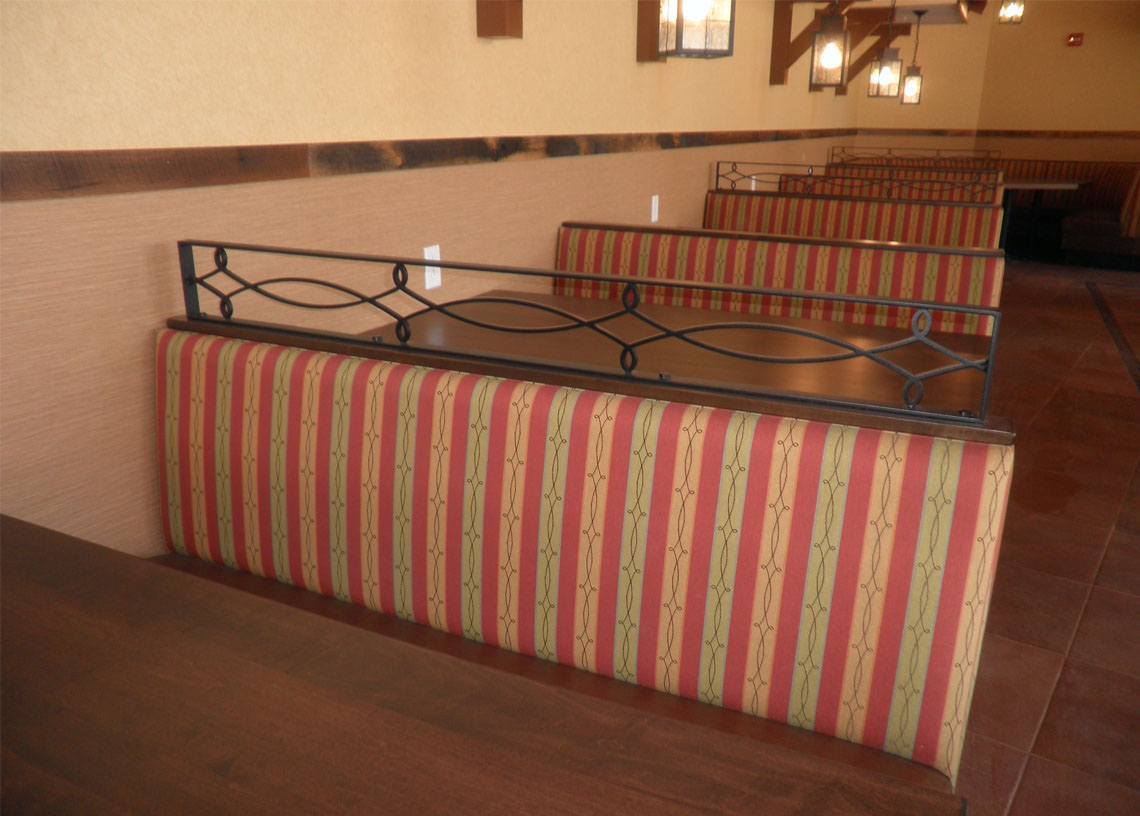 Iron dining booth divider