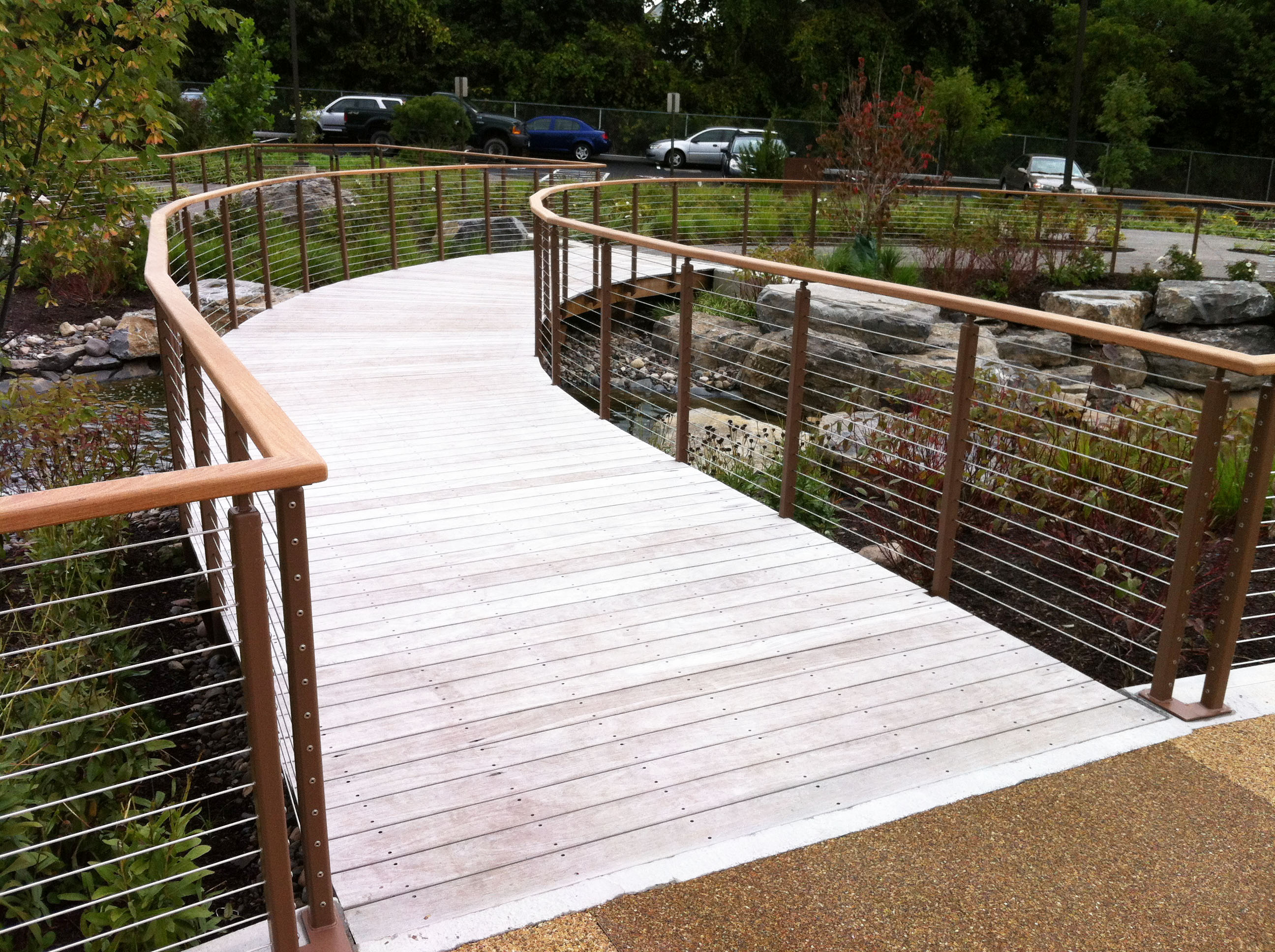 Ithaca style railing on this curved bridge