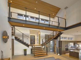 Keuka Studios center supported floating stair
