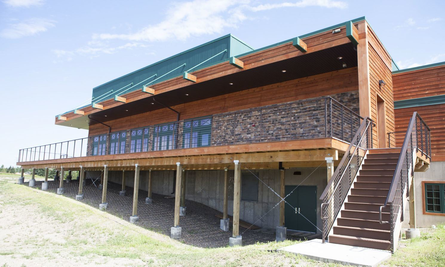 Keuka Studios railing on this Lewis and Clark building