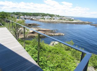 Keuka Studios Stainless Steel railing in Ogunquit Maine