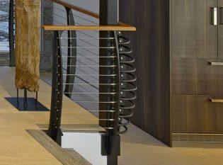 Keuka style railing corner-post