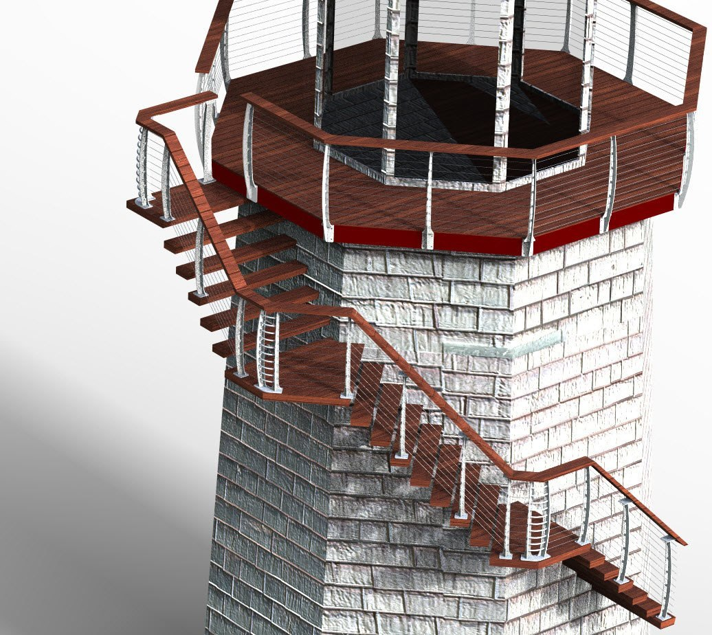Light house rendering
