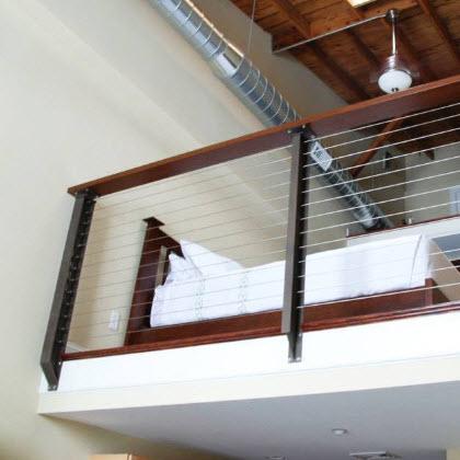 Prairie Style Loft Cable Railing – Laconia, NH