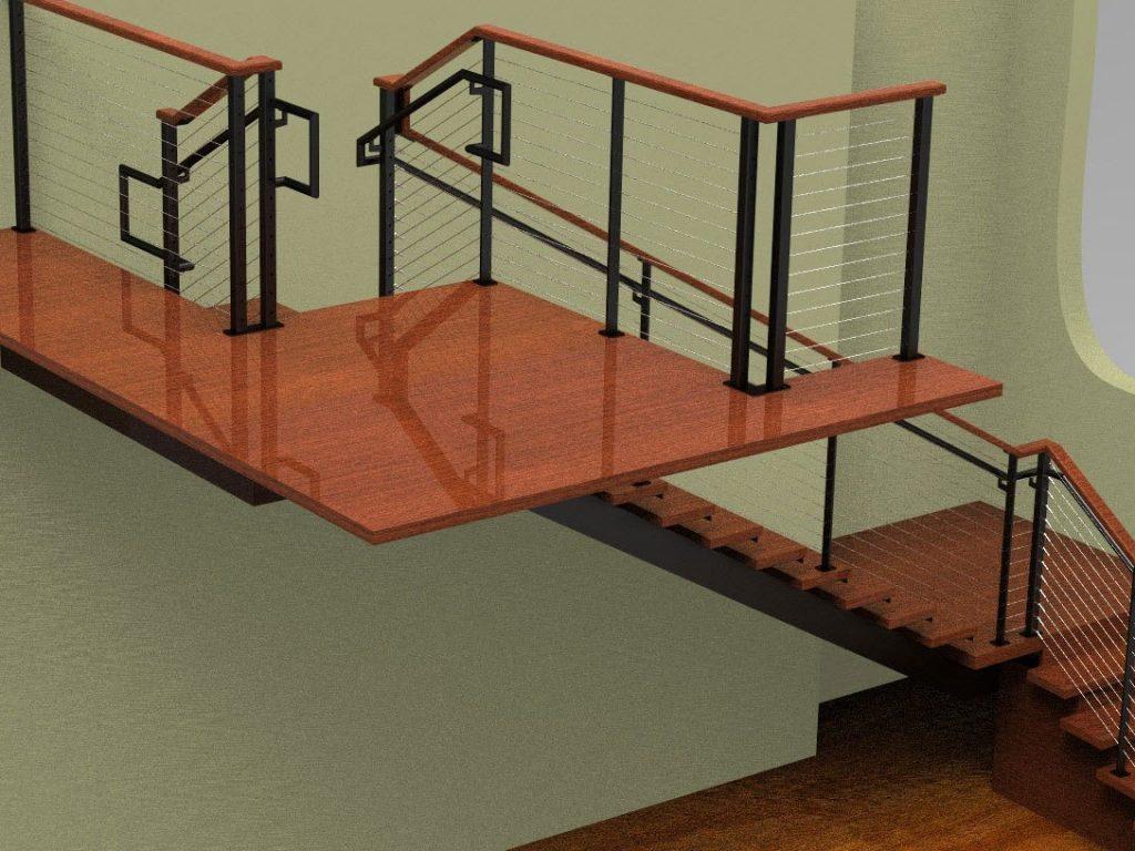 Lobby Railing Render2