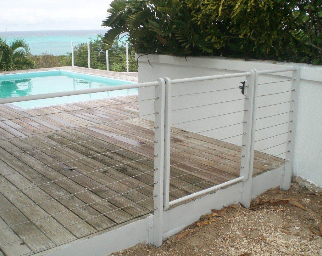 custom cable railing gate