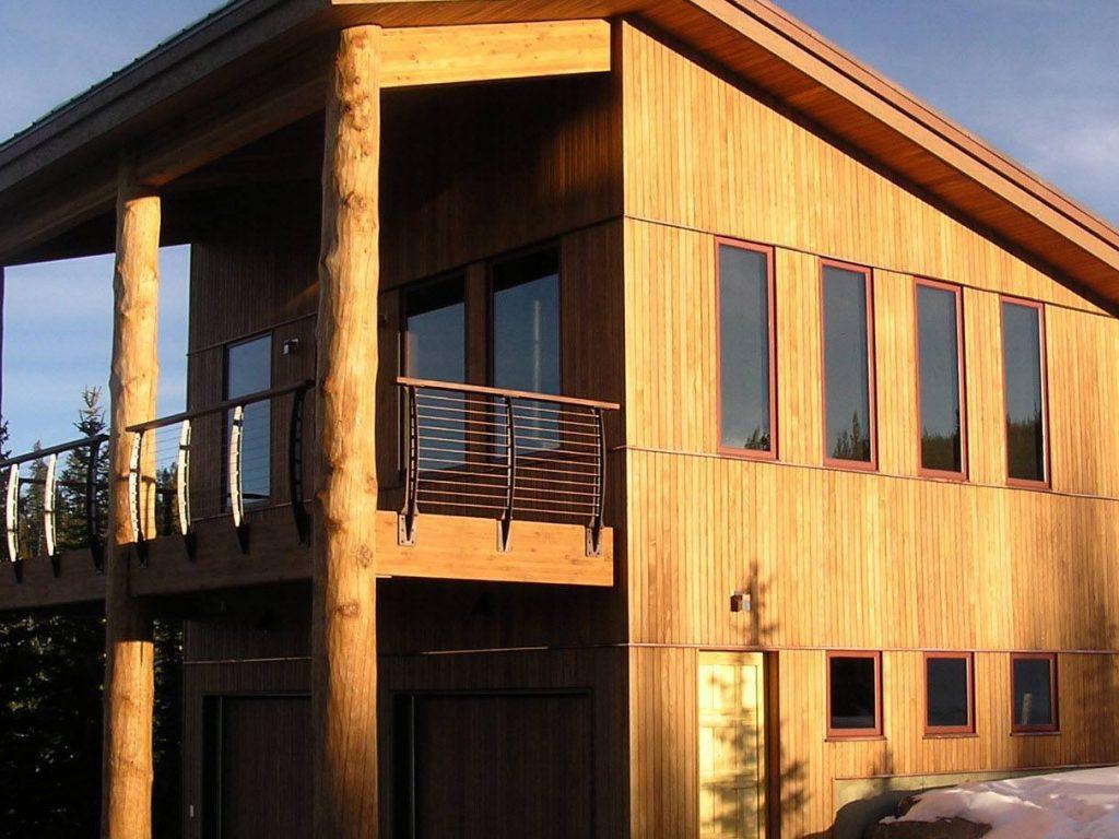 Log home bronze railing