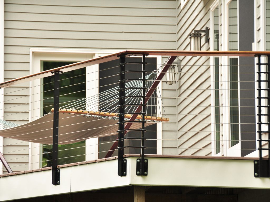 Deck With Cable Railing System Lockport Ny Keuka Studios