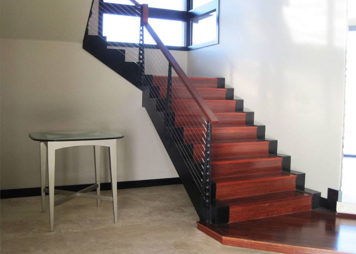 Modern Stair Red Rocks Home