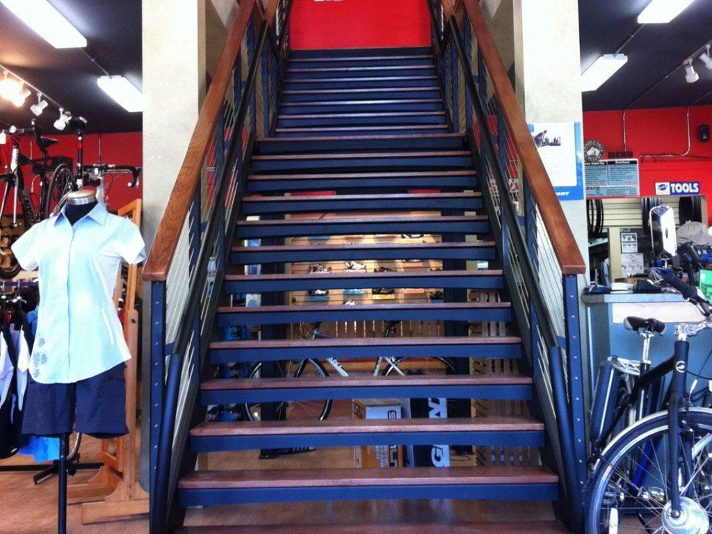Monumental Stair In A Bike Shop