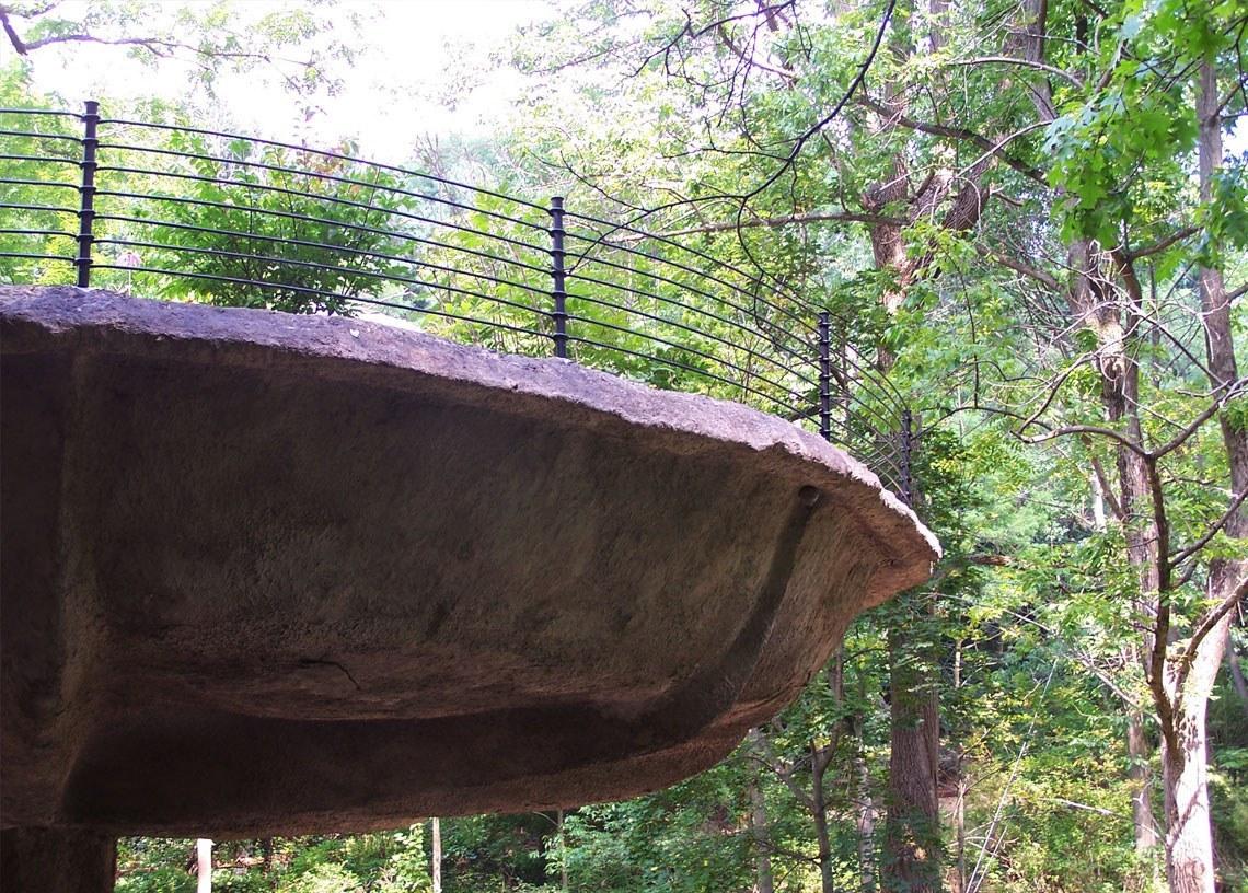 Mushroom House Patio Railings By Keuka Studios