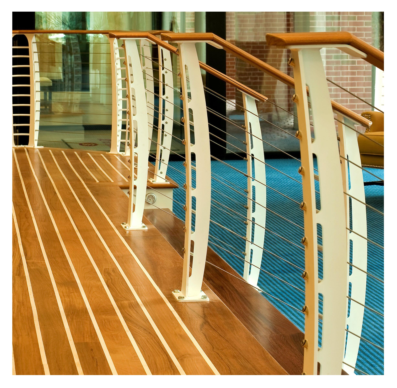 nautical cable railing close up