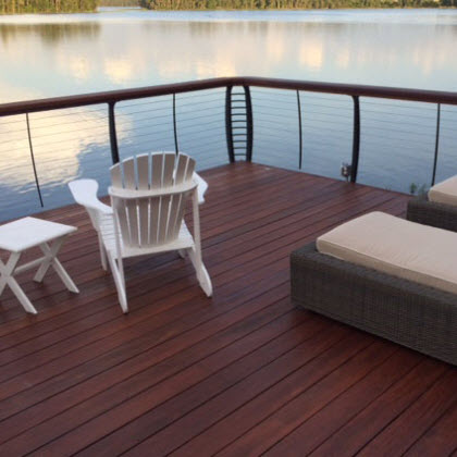 boat house railing