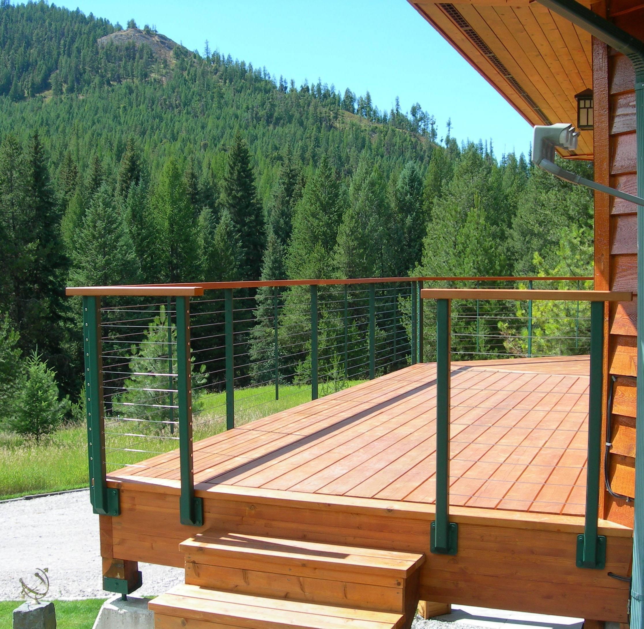 Outside steps leadng up to deck