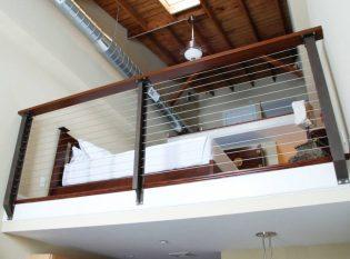 Prairie Style cable railing loft