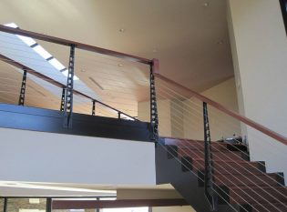 Railing Around The Glass Atrium