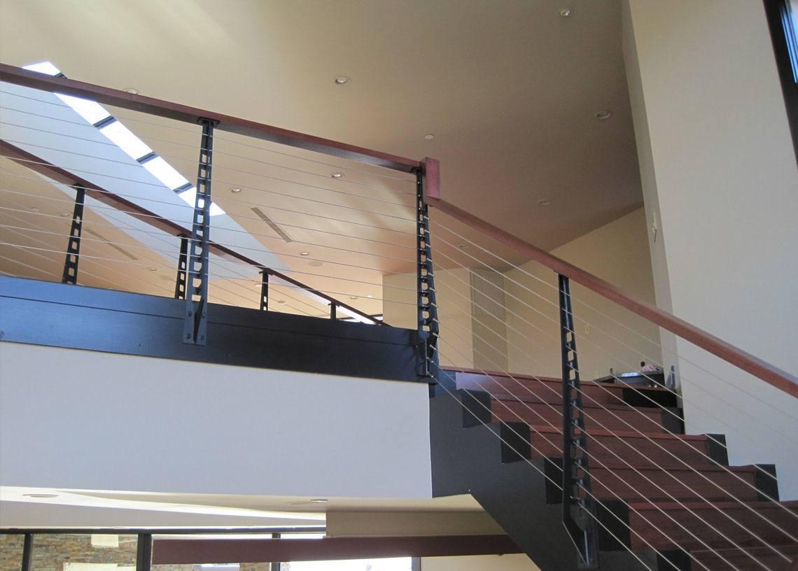 Railing Around The Glass Atrium